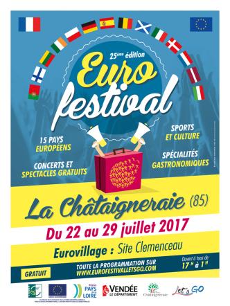 Affiche officielle de l'Eurofestival 2017